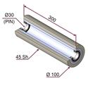 Picture of Rullo di pressatura per film protettivo in materiale antiaderente termoresistente Ø100x300 mm 45 sh colore grigio