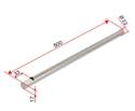 Picture of Asta verticale 22x500 mm cromata per gruppo idraulico