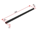 Picture of Asta verticale 22x500 mm  [Ø22mm] BRUNITA per gruppo idraulico