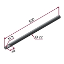 Picture of Asta CROMATA Ø22x500mm con foro M8 a 90°