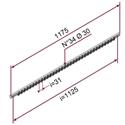 Picture of Gruppo guida profilo primerizzato L=1175 mm con N°34 ruote Ø30 e perni ruota 20 mm