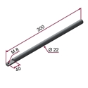 Picture of Asta CROMATA Ø22x300mm con foro M8 a 90°