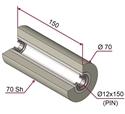 Picture of Ruota di pressatura per aste a forcella in materiale antiaderente termoresistente Ø70x150 mm 70 sh colore grigio siliceo RAL-7032