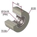 Picture of Ruota di pressatura in materiale antiaderente termoresistente Ø55x30 70 sh colore grigio siliceo RAL-7032