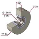 Picture of Ruota di pressatura in materiale antiaderente termoresistente Ø70x20 70 sh colore grigio siliceo RAL-7032