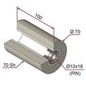 Picture of Ruota di pressatura per aste a forcella in materiale antiaderente termoresistente Ø70x100 mm 70 sh colore grigio siliceo RAL-7032