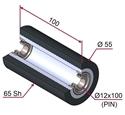 Picture of Ruota di pressatura per aste a forcella in materiale antiaderente termoresistente Ø55x100 mm 65 sh colore grigio antracite RAL-7016