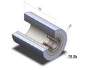 Picture of Ruota di pressatura completa diametro 55x70 mm 70 sh colore grigio