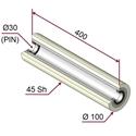 Picture of Rullo di pressatura in materiale antiaderente termoresistente Ø100x400mm 45 sh colore grigio