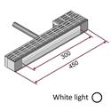 Picture of Lampada IR-onde corte (luce bianca) 1800W 230V completa di supporti e protezione [Ingombro 450mm - parte riscaldante 300mm)