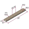 Picture of Supporto idraulico per n°6 aste verticali Ø 22 mm NICHELATO