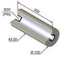 Picture of Rullo di pressatura per film protettivo in materiale antiaderente termoresistente Ø120x300 mm 45 sh colore grigio