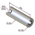 Picture of Rullo di pressatura per film protettivo in materiale antiaderente termoresistente Ø100x300 mm 70 sh colore grigio