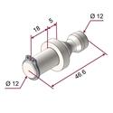 Picture of Perno per attrezzaggio attacco rapido (Ø12mm) [PUSH AND PULL]® - STD