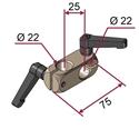 Picture of Morsetto doppio destro per aste diametro 22 mm [NICHELATO] completo di maniglie